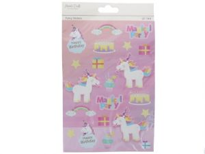 HAPPY BIRTHDAY UNICORN 3D STICKER