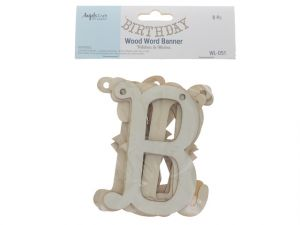 Wood Letters BIRTHDAY