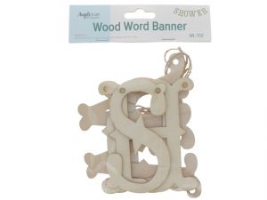 WOODEN SHOWER BANNER