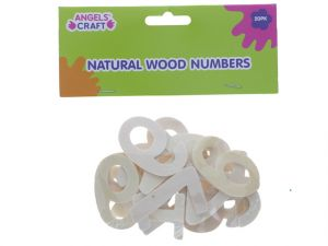 WOOD THIN NUMBERS NATURAL