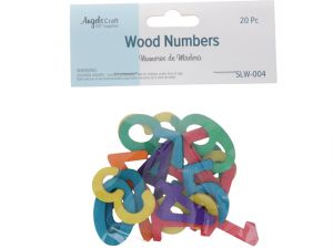 WOOD THIN NUMBER ASST