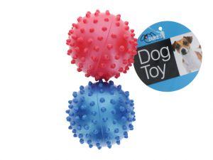 RUBBER SPIKE DOG BALLS