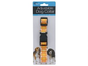ADJUSTABLE DOG COLLAR PLAID DESIGN