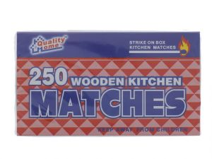 MATCHES WOODEN 250PC 2PK