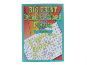 BIG PRINT FIND A WORD PUZZLE VOLUME #25