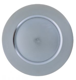 SILVER PLASTIC PLATE CHARGER 13 INCH
