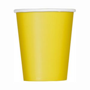 YELLOW 9OZ CUPS