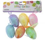 EASTER FOAM SEQUIN HANGING EGGS 3 COUNT