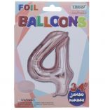 ROSE GOLD  #4 FOIL BALLOON 34 INCH