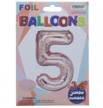 ROSE GOLD  #5 FOIL BALLOON 34 INCH