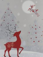 REINDEER CHRISTMAS LARGE BAG