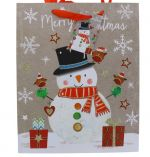 SNOWMAN LARGE GIFT BAG