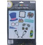 PHOTO PROP KIT NEW YEAR 12 PACK