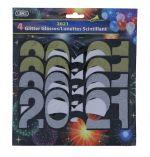 GLITTER 2020 GLASSES 4 PC