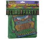 LUAU PARTY LETTER BANNER