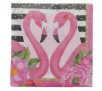 FLAMINGO NAPKINS 13 INCH 16 COUNT