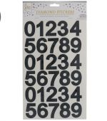 BLACK NUMERICAL STICKER 1 SHEET