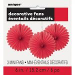 RED DECOR FAN