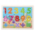 Wooden Numbers Puzzle Set for Kids, 80 pieces Puzzle For Kids, Learning Toys, Educational Toys - Size: 12 x 9 in