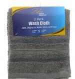 WASH CLOTH 2 PACK 12 X 12 INCH
