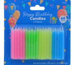 CANDLES ASSORTED COLORS