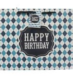 BLUE HAPPY BIRTHDAY MEDIUM GIFT BAG