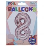 ROSE GOLD  #8 FOIL BALLOON 34 INCH