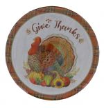 HELLO FALL PAPER PLATE 9 INCH 10 PACK