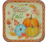 FALL DESSERT SQUARE PLATES 7 INCH 10 PACK
