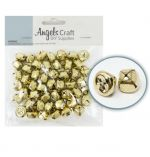 GOLD JINGLE BELL 15 MM 50 COUNT