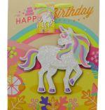 UNICORN HAPPY BIRTHDAY MEDIUM GIFT BAG