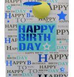 BLUE STAR HAPPY BIRTHDAY LARGE GIFT BAG
