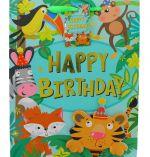 JUNGLE BIRTHDAY LARGE GIFT BAG