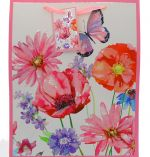 BUTTERFLY FLORAL LARGE GIFT BAG