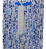 BLUE RAINBOW GRAY POLKA DOT LARGE GIFT BAG