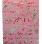 PINK HAPPY BIRTHDAY LARGE GIFT BAG