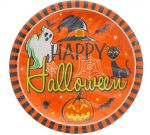 HAPPY HALLOWEEN PLATE 9 INCH 12 PACK