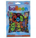 CONGRATS SQUARE NON FOIL BALLOON 18 INCH