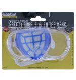 SAFETY GOGGLE AND FILTER MASK