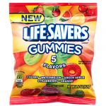 LIFESAVERS GUMMIES 5 FLAVOR 3.6 OZ PEG BAG
