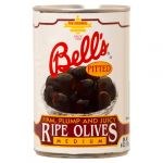BELL OLIVE PITTED 6Z BLKMED