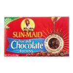 SUN MAID MILK CHOCOLATE RAISINS 3.5 OZ
