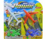 CAR MOTORCYCLE AIRPLANE SET