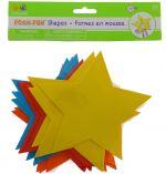 FOAM SHAPE STAR 12 PACK 6 INCH