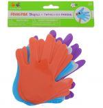 FOAM SHAPE HAND 12 PACK 6 INCH