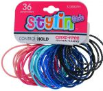 STYLIN GIRL CLASP FREE PONY HOLDER 36 PACK