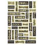HALLOWEEN PHRASE FOAM STICKERS 39 PC
