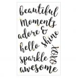 INSPIRATIONAL STICKERS WITH GEM 9 PC