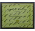 DOCUMENT FRAME BLACK AND GOLD TRIM 8.5 X 11 INCH