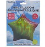 FOIL STAR BALLOON 20 INCH METTALIC